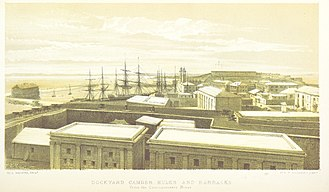 Royal Naval Dockyard, Bermuda - Dockyard, Camder Hulks and Barracks, 1857