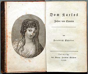 Don Carlos (play) - Don Karlos, Leipzig, 1787