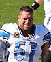 English: Dominic Raiola, a player on the Natio...