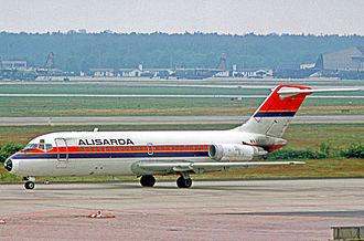 Alisarda - Alisarda Douglas DC-9-14 at Frankfurt Airport in 1977.