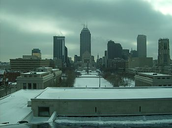 View of downtown Indianapolis, , , taken from ...