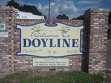 Doyline, LA, welcoming sign IMG 0597.JPG