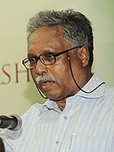 Dr. Ainun Nishat (VC of BRAC University) addressing the students in BRAC University. 2.JPG