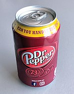 Dr. Pepper in a 12 ounce can.