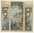 Drawing, Design for Stained Glass Window, The Mermaid Window, for the A.H. Barney Residence, New York, NY, 1882 (CH 18404389).jpg