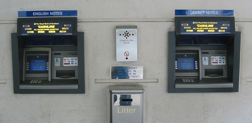 Dual currency cash machines in Jersey