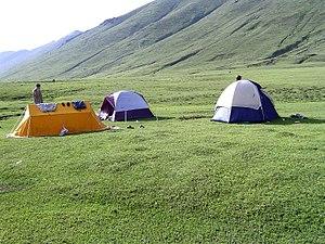 Lulusar-Dudipatsar National Park - Camping near the lake, in Lulusar-Dudipatsar National Park