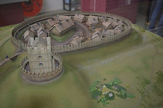 Dundonald Castle - Image: Dundonald Castle Visitor Centre Castle model