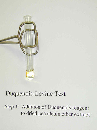 Cannabis drug testing - Image: Duquenois levine step 1