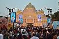Durga Puja Pandal with Spectators - Baghbazar Sarbojanin Durgotsav - Nivedita Park - Kolkata 2014-10-03 9252.JPG