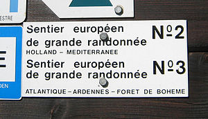 E3 European long distance path - Image: E2e 3sign
