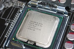 Multi-core processor - An Intel Core 2 Duo E6750 dual-core processor.