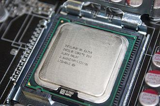 Multi-core processor - An Intel Core 2 Duo E6750 dual-core processor.