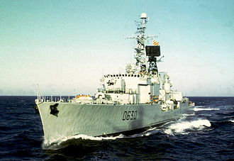 T 47-class destroyer - Du Chayla at sea