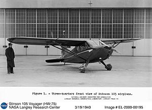 Stinson Voyager - Stinson HW-75 at Langley