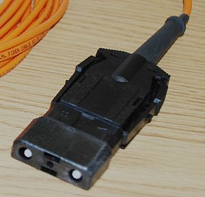 Optical fiber connector - Image: ESCON connector