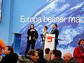 EU-Wahlveranstaltung Martin Schulz in Frankfurt am Main, Santi Umberti und Sylvia Kunze, 3.JPG