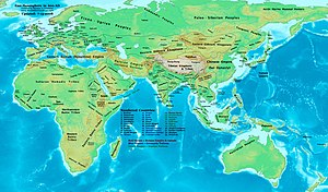Turkic Khaganate - Western and Eastern Turkic Khaganates in 600 AD