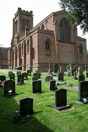 St Mary's Church, Eccleston - The 'new' churchyard at St Mary's