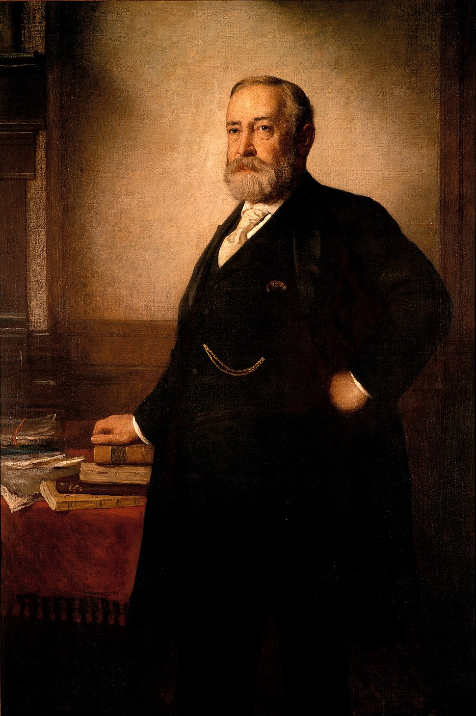 Eastman Johnson - Benjamin Harrison - Google Art Project