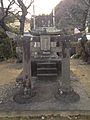 Ebisu Daimyojin Shrine on historical site of Hayaki no To on west side of Kanchobashi Bridge.jpg