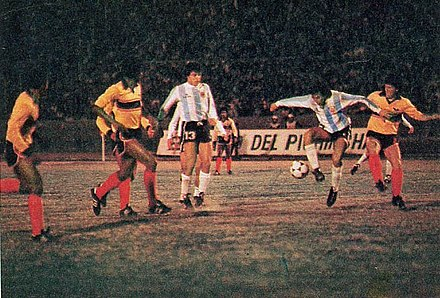 Argentina playing Ecuador in Quito Ecuador argentina 1983.jpg