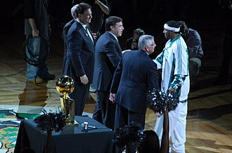 Eddie House - House receiving his 2008 NBA Finals ring.