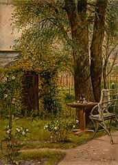 Garden with a Table