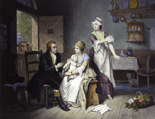 Edward Jenner vaccinating his young child