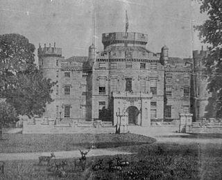 Industry and the Eglinton Castle estate village in United Kingdom