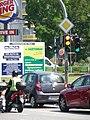 Einmündung der Potsdamer Straße in den Ruhlsdorfer Platz. Unmittelbar hinter den Ampeln für die Kfz und die Fahrradfahrer geht es rechts in die Ruhlsdorfer Straße. - panoramio.jpg