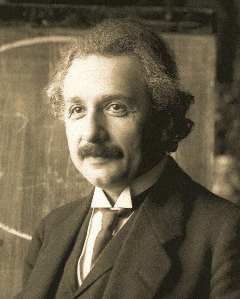 Albert Einstein w 1921 r.