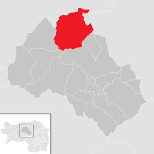 Location of the municipality of Eisenerz (Styria) in the Leoben district (clickable map)