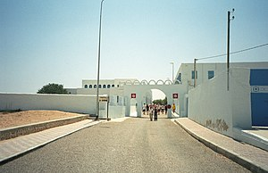 Ghriba synagogue bombing - Synagogue entrance through which the fuel tanker drove during attack