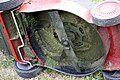 Electric lawn mower underside IMG 5501.JPG