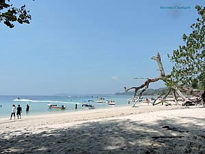 Havelock Island - Image: Elephenta beach, Havelock Island, Andamn, India