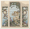 "Elihu Vedder - ""The Mermaid Window"", Design for Stained Glass Window for the A.H. Barney Residence, New York, NY - Google Art Project.jpg"
