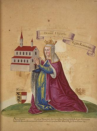 Elizabeth of Carinthia, Queen of Germany - Queen Elizabeth, donor portrait, 15th century