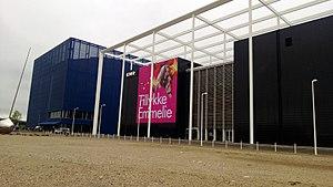 DR Byen - Image: Emmelie de Forest congratulations banner at DR Byen