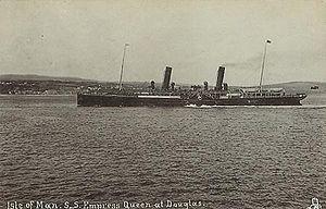 SS Empress Queen - Empress Queen approaches Douglas