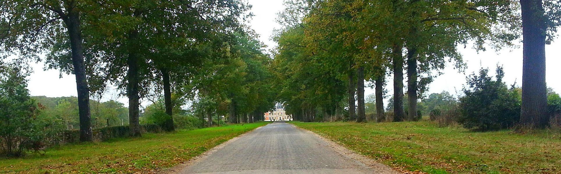 En arrivant au château de Clermont