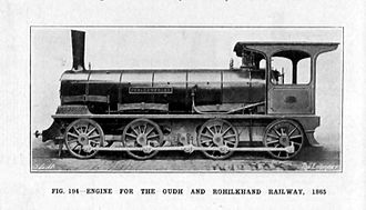 Oudh and Rohilkhand Railway - 0-8-0 engine for the Oudh and Rohilkhand Railway, 1865