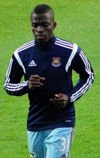 Enner Valencia - Valencia warming up for West Ham United in 2014