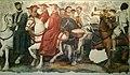 Enrico di Nassau col collare del toson d'oro di Borgogna, seguito da vescovi, prelati e trombettieri (8 de agosto de 2018, Museo degli affreschi Giovanni Battista Cavalcaselle, Verona).jpg