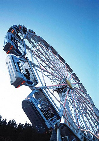 """HUSS Park Attractions - """"Enterprise"""" at TusenFryd in 2005 (Norway). Opened: 1988 and closed: 2006"""