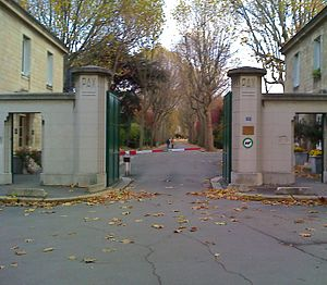 Saint-Ouen Cemetery - Main entrance.