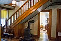 Entry hall looking at smoking parlor - Lawnfield - Garfield House Historic Site (29961023274).jpg