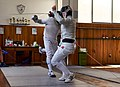 Epee fencing at Athenaikos Fencing Club in April 2019.jpg