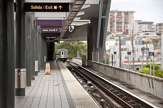 Sagrado Corazón station Rail station of the Tren Urbano system in Puerto Rico