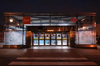 Barrio del Puerto (Madrid Metro) - Image: Estación de Barrio del Puerto